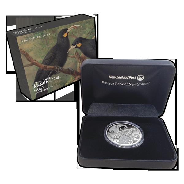 1 OZ Huia Bird 2015 New Zealand Silver $5 Dollars Proof Coin