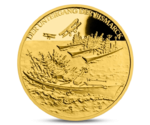 Niue 5 NZD Sinking of the Bismarck Ship Gold 2016 PROOF