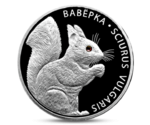 Belarus Squirrel 20 Ruble Silver 2009