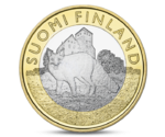 Finland 5 Euro Animals of the Provinces - Finland Proper Fox 2014
