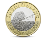 Finland 5 Euro Animals of the Provinces - Satakunta Beaver 2015