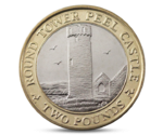 IOM 2 Pounds Tower Peel Castle Bi-Metal 2015
