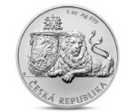 Niue 1 Dollar Silver 1 Oz Bullion Czech Lion 2017