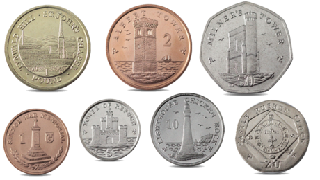 Isle of Man 7 Coins Set - 1, 2, 5, 10, 20, 50 Pence 1 Pound 2013