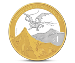 New Zealand 1 Dollar Hobbit Dragon Silver 2013