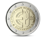 Slovakia 2 Euro 10th Anniversary to the EU 2014 UNC