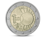Belgium 2 Euro 100th of Royal Meteorological Institute 2013 UNC