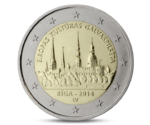 Latvia 2 Euro Capital of Riga 2014
