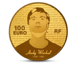 France 100 Euro Great Painters Angy Warhol Gold 2011