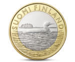 Finland 5 Euro Animals of the Provinces - Savonia Bird 2014