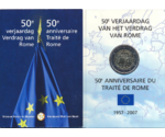 Belgium 2 Euro Treaty of Rome in Blister 2007
