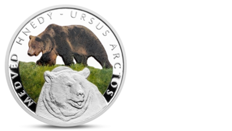 Niue 1 Dollar Brown Bear Silver 2016