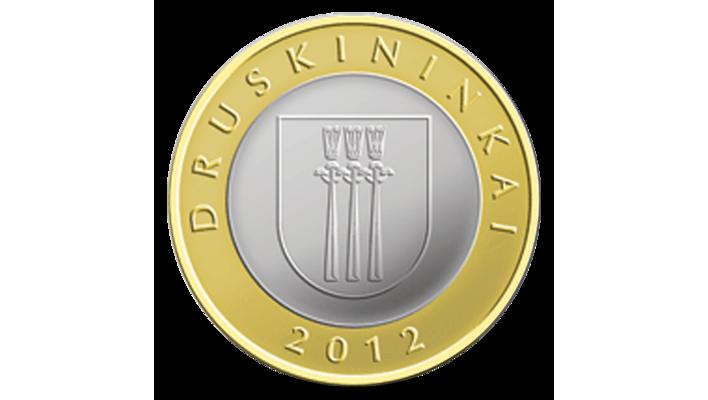 Lithuania set of 4 coins 2 litai 2012 Lithuanian resorts UNC BIMETALLIC