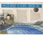 UK Great Britain Wireless Bridges the Atlantic Marconi 2 Pounds 2001