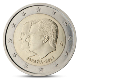 Spain 2 Euro Change of the Head of State 2014 UNC
