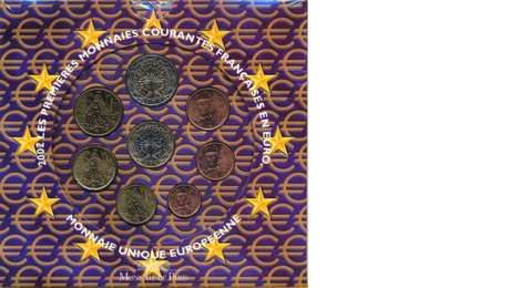 France Official First Euro Set 2002 in Folder
