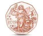 Austria 5 Euro New Year 2019 UNC
