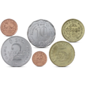 Sri Lanka Currency Set 6 Coins UNC