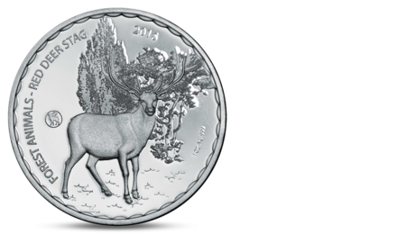 Burkina Faco 1000 Francs Red Deer Stag Silver 2016