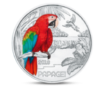 Austria 3 Euro Colourful Creatures The Parrot 2018