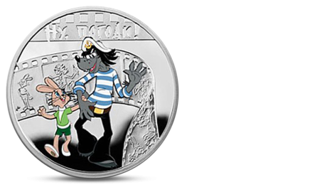 Niue 1 Dollar Cartoon Nu Pogodi Wolf and Hare Silver 2010