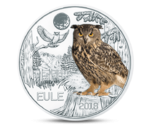 Austria 3 Euro Colourful Creatures Owl 2018