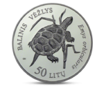 Lithuania 50 Litas Nature Pond Turtle 2012 PROOF