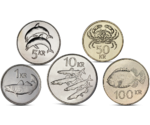 Iceland 5 Coins Set Marine Fauna Dolphin Fish UNC