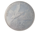 Senegal 150 Francs 25th Year of Eurafrique Bird Pelican 1975 PROOF