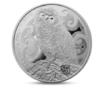 New Zealand 5 Dollar Laughing Owl Silver 2017
