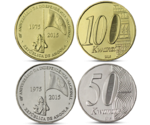 "Angola Set 50 and 100 Kwanzas ""40th Anniversary of Independence"" 2015 UNC"
